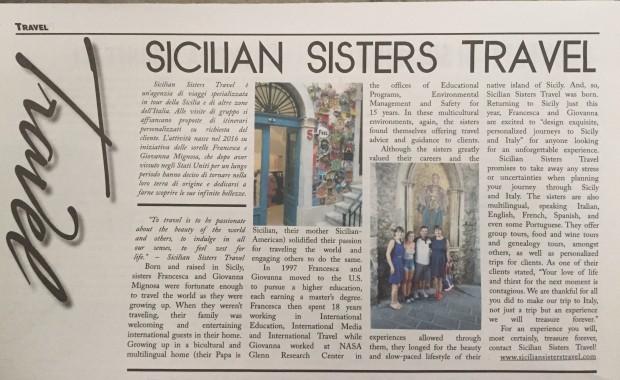 Article La Gazzetta Italiana Sicilian Sisters Travel