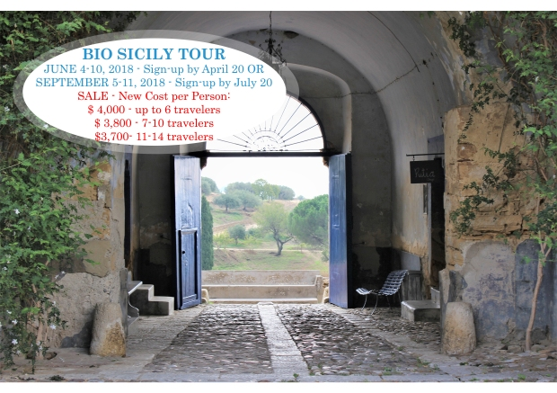 2018 Bio Sicily Tour Final Flyer SALE FOR WEBSITE